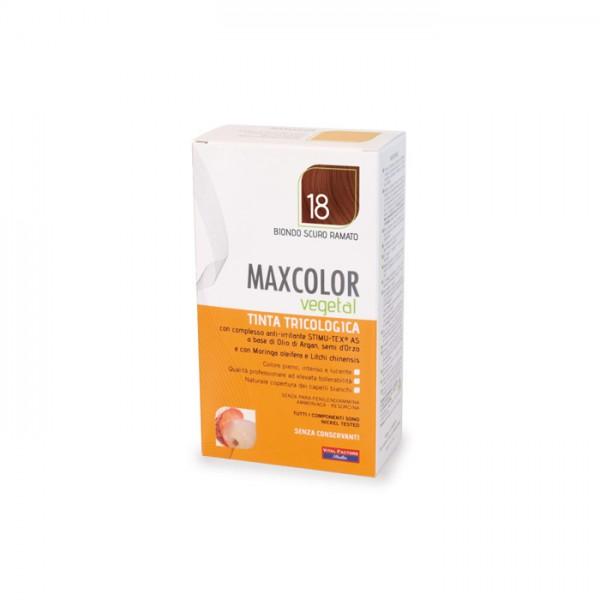 Vopsea de Par MaxColor Vegetal 18 BLOND INCHIS CUPRU