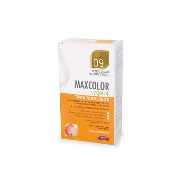 Vopsea de Par MaxColor Vegetal 09 BLOND CENUSIU DESCHIS